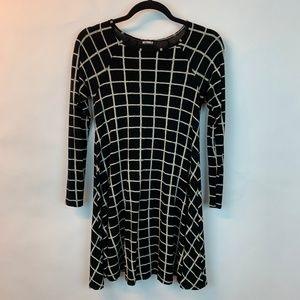 Missguided Dress Long Sleeves Window Pane 8